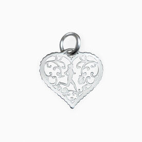 Livia Collection Sterling Silver Filigree Runner Heart Charm