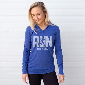 Women's Running Lightweight Performance Hoodie - Run Like A Girl