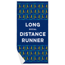 Running Premium Beach Towel - Long Social Distance Runner