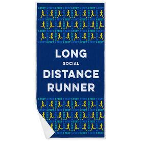 Running Premium Beach Towel - Long Social Distance Runner