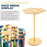 Premier Wood Tabletop Running Race Medal Display