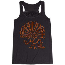 Running Flowy Racerback Tank Top - Moms Run This Town Turkey