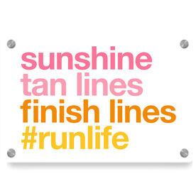 Running Metal Wall Art Panel - Sunshine Tan Lines Finish Lines