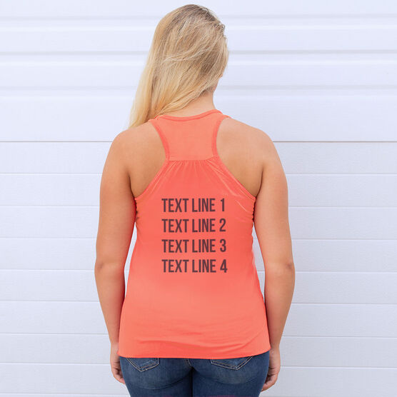 Flowy Racerback Tank Top - She Runs This Town Delaware Runner