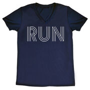 Women's Running Short Sleeve Tech Tee - Run Lines