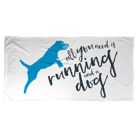 Running Beach Towel All You Need Is Running And A Dog