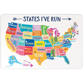 "Running 18"" X 12"" Aluminum Room Sign - States I've Run (Dry Erase)"