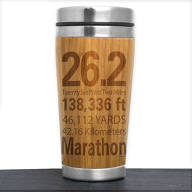 Bamboo Travel Tumbler 26.2 Math Miles