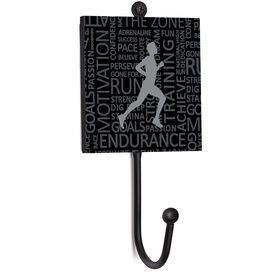 Running Medal Hook - Inspirational Words Male
