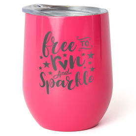 Running Stainless Steel Wine Tumbler - Free To Run And Sparkle