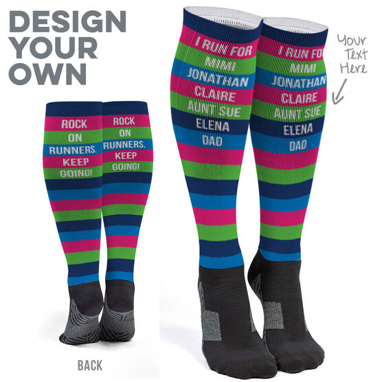 Printed Knee-High Socks - Personalized Text