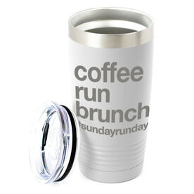 Running 20oz. Double Insulated Tumbler - Coffee Run Brunch