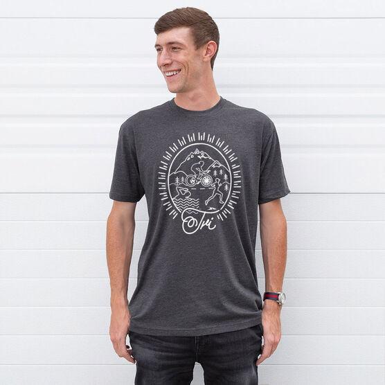Triathlon Short Sleeve T-Shirt - Tri Crest
