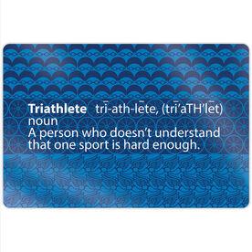 """Triathlon 18"""" X 12"""" Aluminum Room Sign - Triathlete Definition"""