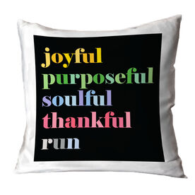 Running Throw Pillow - Run Mantra
