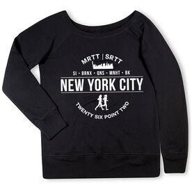 Running Fleece Wide Neck Sweatshirt - New York City 26.2 (MRTT/SRTT)