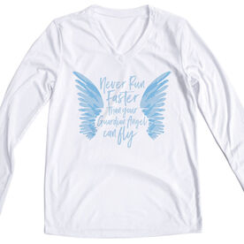 Women's Long Sleeve Tech Tee - Run With Your Angel