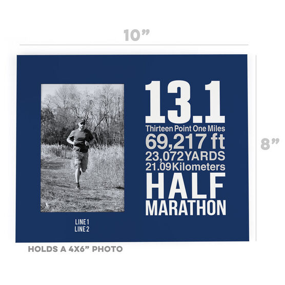 Running Photo Frame - 13.1 Math Miles