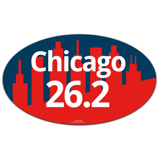 Chicago 26.2 Oval Car Magnet
