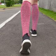 Running Printed Knee-High Socks - Running Motivation