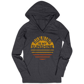 Women's Running Lightweight Performance Hoodie - Running is My Sunshine