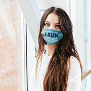 Running Face Mask - I Teach Kids I Run Marathons Nothing Scares Me