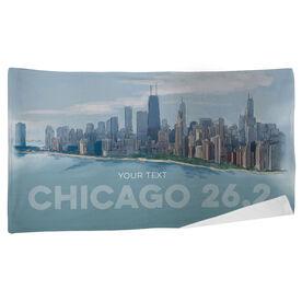 Running Beach Towel - Chicago Sketch