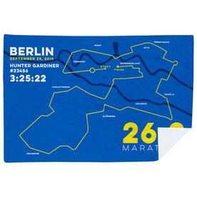 Running Premium Blanket - Personalized Berlin Map