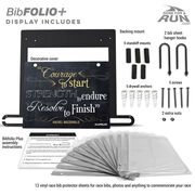 BibFOLIO+™ Race Bib and Medal Display - Chalkboard Courage to Start