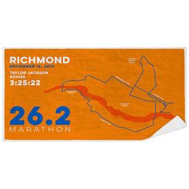 Running Premium Beach Towel - Personalized Richmond Map