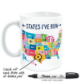 Running Coffee Mug - States I've Run