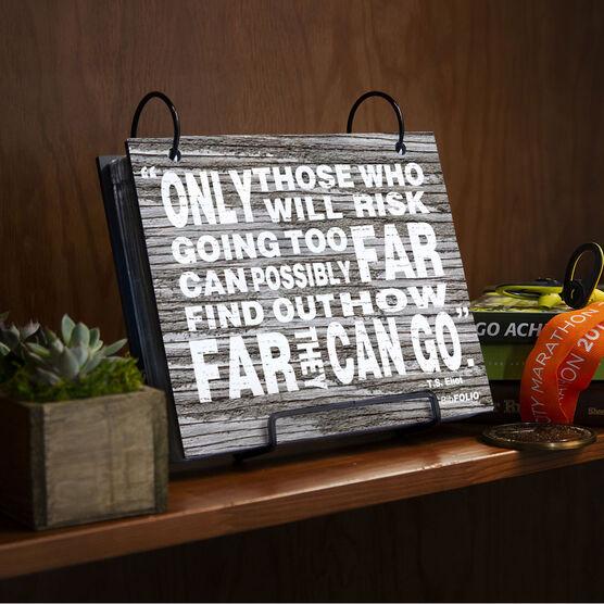BibFOLIO® Race Bib Album - Going Too Far Rustic