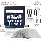 BibFOLIO+™ Race Bib and Medal Display - Adventure Is Where You Find It