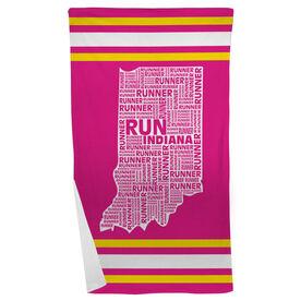 Running Beach Towel Indiana State Runner