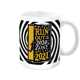 Running Coffee Mug - Run Out Of The 2020 Zone Into 2021