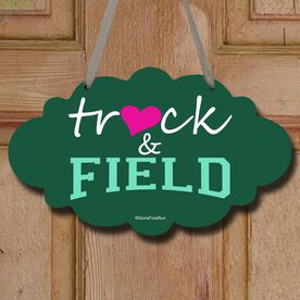 Track and Field Cloud Sign Heart Track and Field