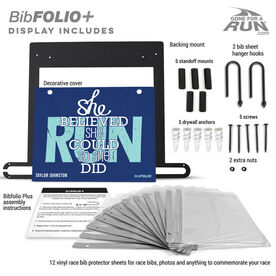 BibFOLIO Plus Race Bib and Medal Display She Believed She Could So She Did
