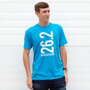 Running Short Sleeve T-Shirt - 26.2 Marathon Vertical