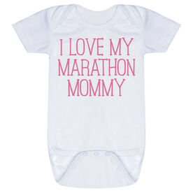 Running Baby One-Piece - I Love My Marathon Mommy