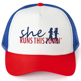 Running Trucker Hat - She Runs This Town RWB