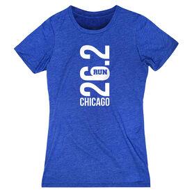 Women's Everyday Runners Tee - Chicago 26.2 Vertical