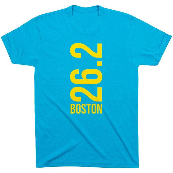 Running Short Sleeve T-Shirt - Boston 26.2 Vertical