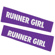 Running Printed Arm Sleeves - Runner Girl