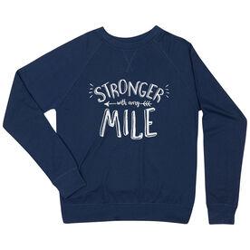 Running Raglan Crew Neck Sweatshirt - Stronger With Every Mile