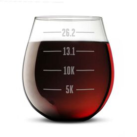 Running Stemless Wine Glass Runner's Measurements