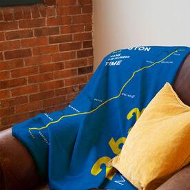 Running Premium Blanket - Boston 26.2 Route