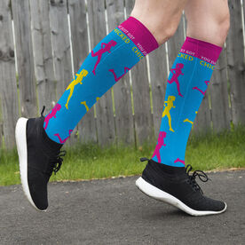 Running Printed Knee-High Socks - You Just Got Chicked