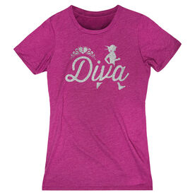 Women's Everyday Tee Running Diva Glitter