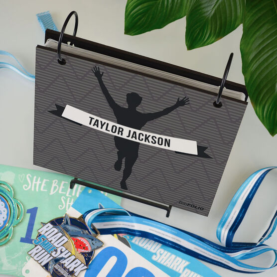 BibFOLIO® Race Bib Album - Male Runner Personalized