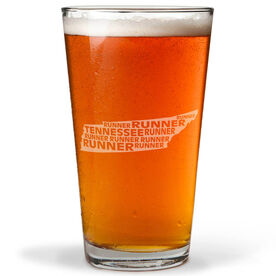 20 oz Beer Pint Glass Tennessee State Runner